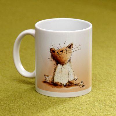 Katzenbecher Tasse mit Katze